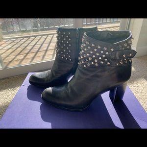Stuart Weitzman Studded Ankle Boots